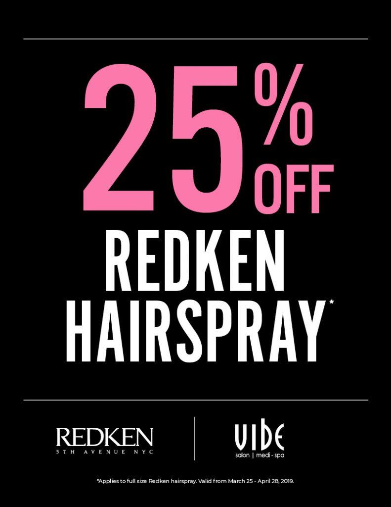 25% Off Redken Hairspray, Vibe