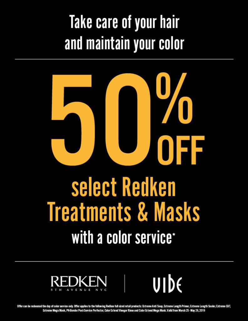 50% Off Redken Treatments & Masks, Vibe
